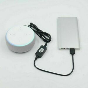 USB 4*1.7mm Power Adapter Charger Cable For Amazon Echo Spot&Echo Dot 3rd gen