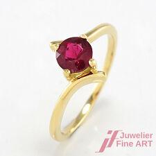 Ring - 18K/750 Gelbgold - pinker Turmalin  - 2,7 g - Gr. 55