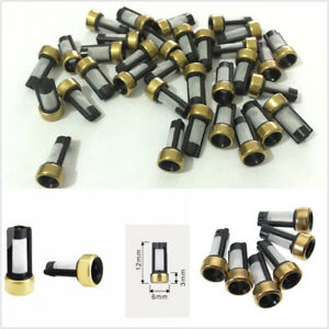 100 X 6*3*12mm Universal Car SUV Fuel Injector Micro Basket Filters For ASNU03C