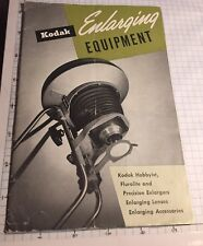 Kodak Enlarging Equipment Manual  & Price list From 1950