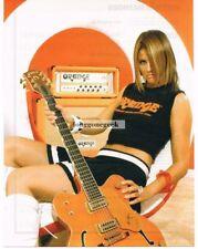 2004 ORANGE Amplifier Girl Holding Gretsch 6120 Chet Atkins Guitar Vtg Print Ad