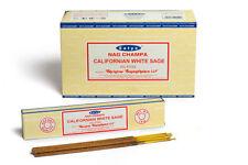 Lombriz SALVIA BLANCA-SATYA Incienso palos Paquete de 12 (15G) cada caja contiene
