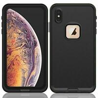 iPhone XS Max FRE Waterproof Shockproof Rugged Hard Shell Snap Cover Case Black