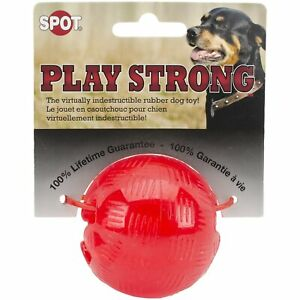"Dog Toy, SPOT ""Indestructible"" Rubber Ball 2"" Holds Treats! Agressive Chewers!"