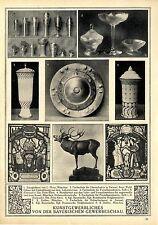 Bayrisches Kunstgewerbe Zinn L. Mory Porzellan Dir. Fritz Klee Glas Zettler 1912