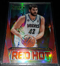 Kevin Love 2013-14 Panini Select RED HOT SILVER PRIZM Insert Card (#'d 06/25)