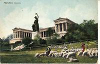 AK München, Bavaria, mit grüner Wiesn und Schafsherde; gel. 1909 nach Wunsiedel