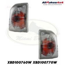 LAND ROVER FRONT TURN SIGNAL CLEAR LAMP LIGHT SET DISCOV I XBD100760W XBD100770W