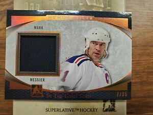 2017 Leaf ITG Used Mark Messier Game Used Jersey Bronze 7/35 New York Rangers
