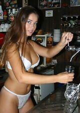 12 PHOTOs 6X8 PACK#1 BARTENDER LINGERIE stockings Girls BARWOMAN Hooters barmaid