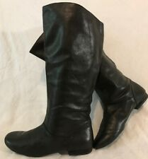 Clarks Black Knee High Leather Lovely Boots Size 5D (156Q)