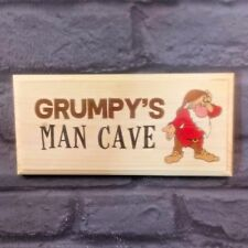 Grumpys Man Cave Plaque / Sign - Craft Gift - Dwarf Funny Men Dad Son Shed 147