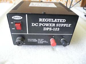 Power Supply Length Tour Zurich DPS-123 Regulated DC 13.8v 2A 3A 5A