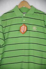 Casual Golf Da Uomo Lyle & Scott Polo Shirt Classic Fit A righe Small Verde P27