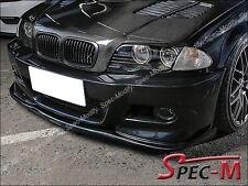H Type Carbon Fiber Front Bumper Lip For 01-06 BMW E46 3-Series M3 Only 2Dr