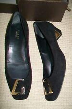 Gucci-Negro Zapatos De Gamuza. EU 38/38, 5. usado una vez.