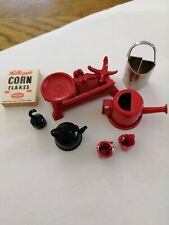 Dolls House Minature Scales Kettle Watering Can And Other Items