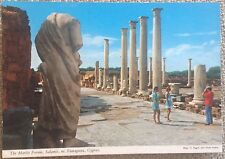 """CYPRUS 1960's """"THE MARBLE FORUM, SALAMIS, FAMAGUSTA"""" OLD MINT POSTCARD"""
