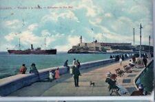 CUBA POSTCARD HAVANA BAY ENTRANCE 1910 mailed