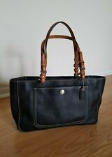 Coach Black Tote Bag Satchel  Shouder Leather Laptop Tablet Purse