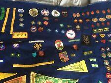 1960s  Scout Camp Blanket   world jamboree 1968 loads of badges