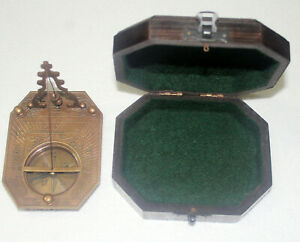 Antique Brass Royal Navy Vintage Sun Dial Pirate Nautical Maritime Desk Decor