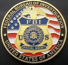 FBI FEDERAL BUREAU OF INVESTIGATION (SPECIAL AGENT) Challenge Coin FREE COIN STA
