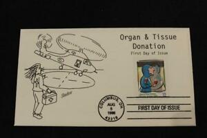 1ST DAY ISSUE 1998 ORGAN & TISSUE DONATION SHARE YOUR LIFE FDC BY SHADOW (7212)