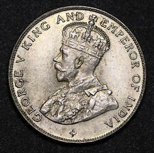 1920 Straits Settlements 50 Cents KM# 35.1 Silver George V Coin VF/EF