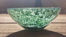 "LARGE 3"" NATURAL MOSS AGATE STONE HANDCARVED GEMSTONE BOWL [2]"