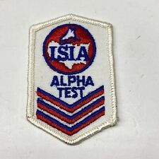 """Vintage ISIA Ice Skating Alpha Test Patch, Sew On 2""""x3"""""""