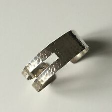 Bracelet Design en Argent Massif Amber Solid Silver Bangle 925