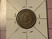 1864 Rotated Die US Mint Error 2 Cents Extremely RARE