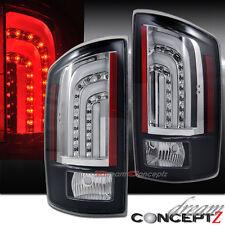 Dodge RAM 1500 2500 3500 Truck LED Brake TAIL LIGHTS Lamps BLACK LIGHT BARS