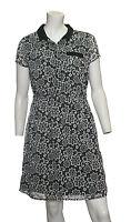 Ladies NEW Ex THERAPY Chiffon Lace Print Tea Dress Sizes 6-18 RRP£45.00--£14.99