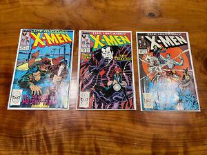 X-men 237,229,239 - First Mister Sinister Cover Uncanny Xmen Wolverine 1988