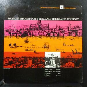 The Krainis Consort - Music In Shakespeare's England LP VG+ Mercury SR90397 USA
