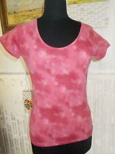 Tee shirt manches courtes polyamide rose tacheté blanc stretch AIGLE 40/42