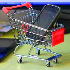 Mini Shopping Cart Desk Organizer Supermarket Phone Storage Holder Basket Toy S5