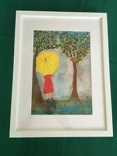 Hand Painted Aquarella with frame