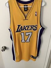 Andrew Bynum #17 LA Lakers NBA Authentic Jersey Size 40 Adidas rare