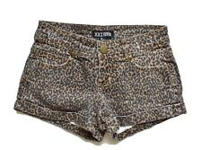 Forever 21 XXI Leopard Print Jean Shorts Size 24 Brown  Five Pocket Cutoff