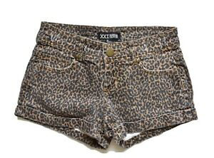 Forever 21 Shorts 24 Brown Leopard Animal Print Five Pocket Cotton