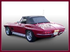Chevy Chevrolet Corvette 1963-1967 Convertible Soft Top Black Pinpoint
