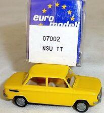 NSU Tt Camión Amarillo Imu / Euromodell 07002 H0 1/87 Emb.orig # Ll 1 Å