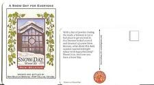 New Belgium - Winter Ale Beer Mat Postcard  - A Snow Day for Everyone EX cond.