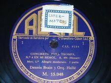 HORN 2 x 78 rpm RECORDS Regal DENNIS BRAIN Concierto para Trompa K. 495 MOZART