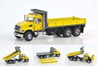 "Mack Granite Flat Bed Dump Truck - ""YELLOW"" - 1/50 - Sword #SW2102-Y"