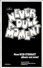 FRAMED RS#115P02 ROD STEWART NEVER A DULL MOMENT ALBUM ADVERT 15X10