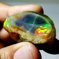 100% NATURAL Fire ETHIOPIAN OPAL ROUGH CAB SUPERB PLAYED GEMSTONE BRILLIANT